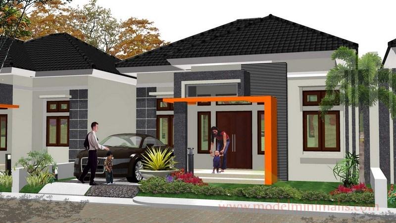 Rumah eksterior dengan gaya  modern