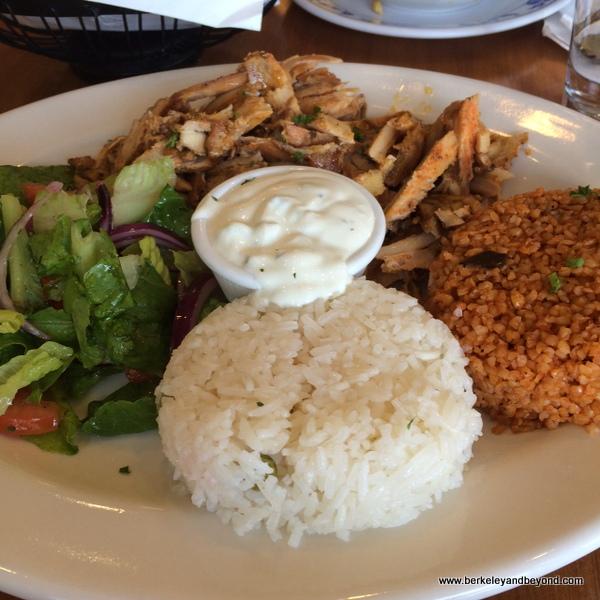 mezze platter at Kobani Mediterranean Grill in Berkeley, California