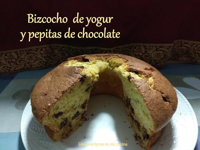 Bizcocho De Yogur Y Pepitas De Chocolate