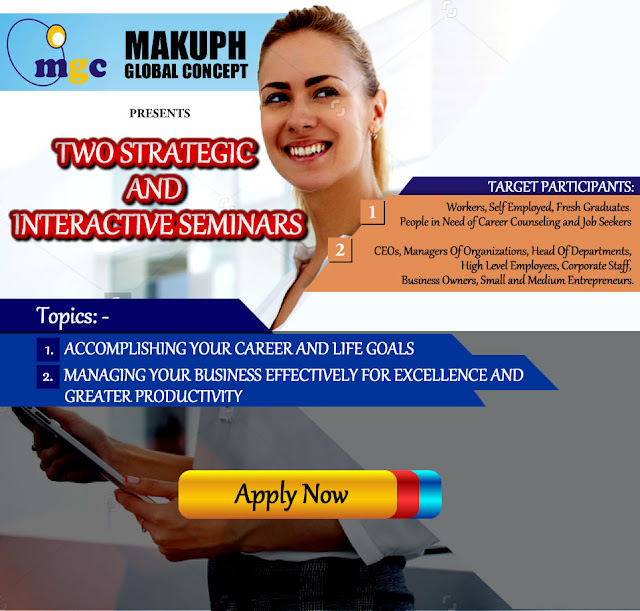 Business: Seminar!!! Attend a 2 day seminar by Makuph Global Concept