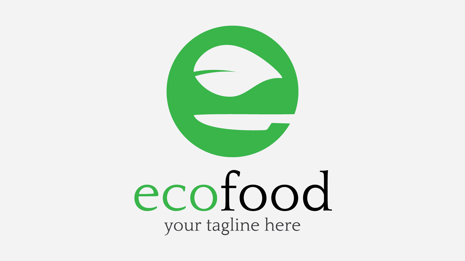 Ecofood free logo design zfreegraphic free vector logo for Design a company logo free templates
