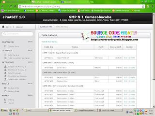 Free Download PHP Source Code Sistem Informasi Inventaris Sekolah