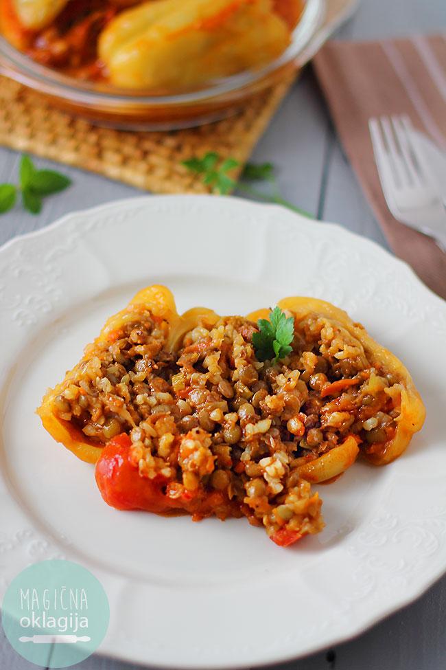 Paprike punjene sočivom