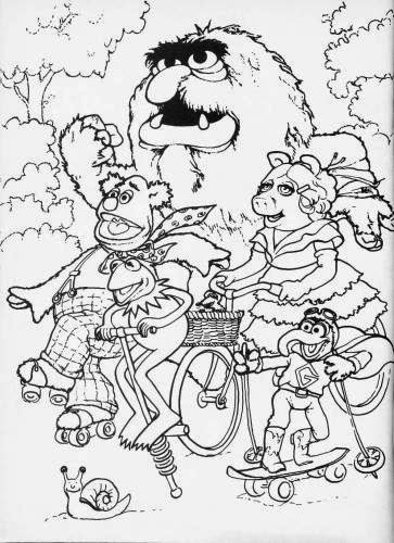 muppet movie coloring pages - photo#3