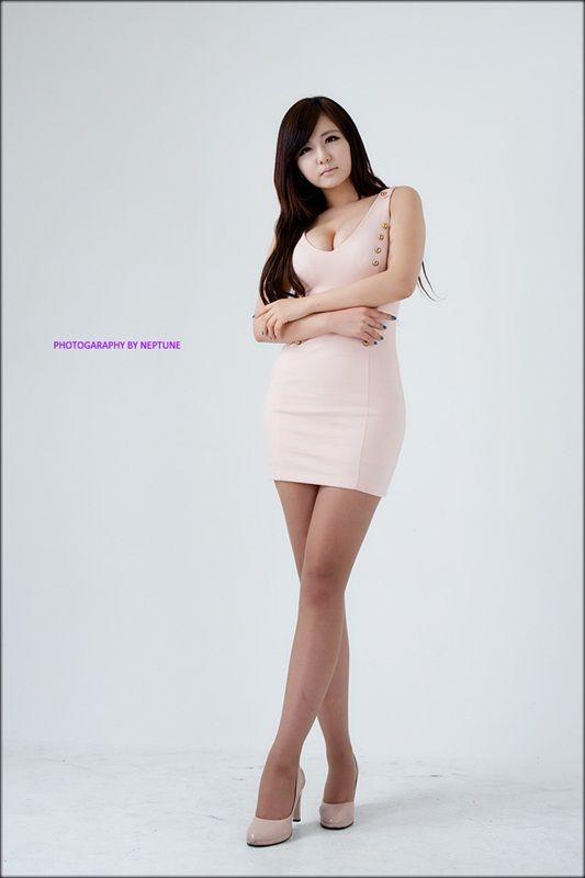 Ryu Ji Hye - Peach Dress ~ Cute Girl - Asian Girl - Korean