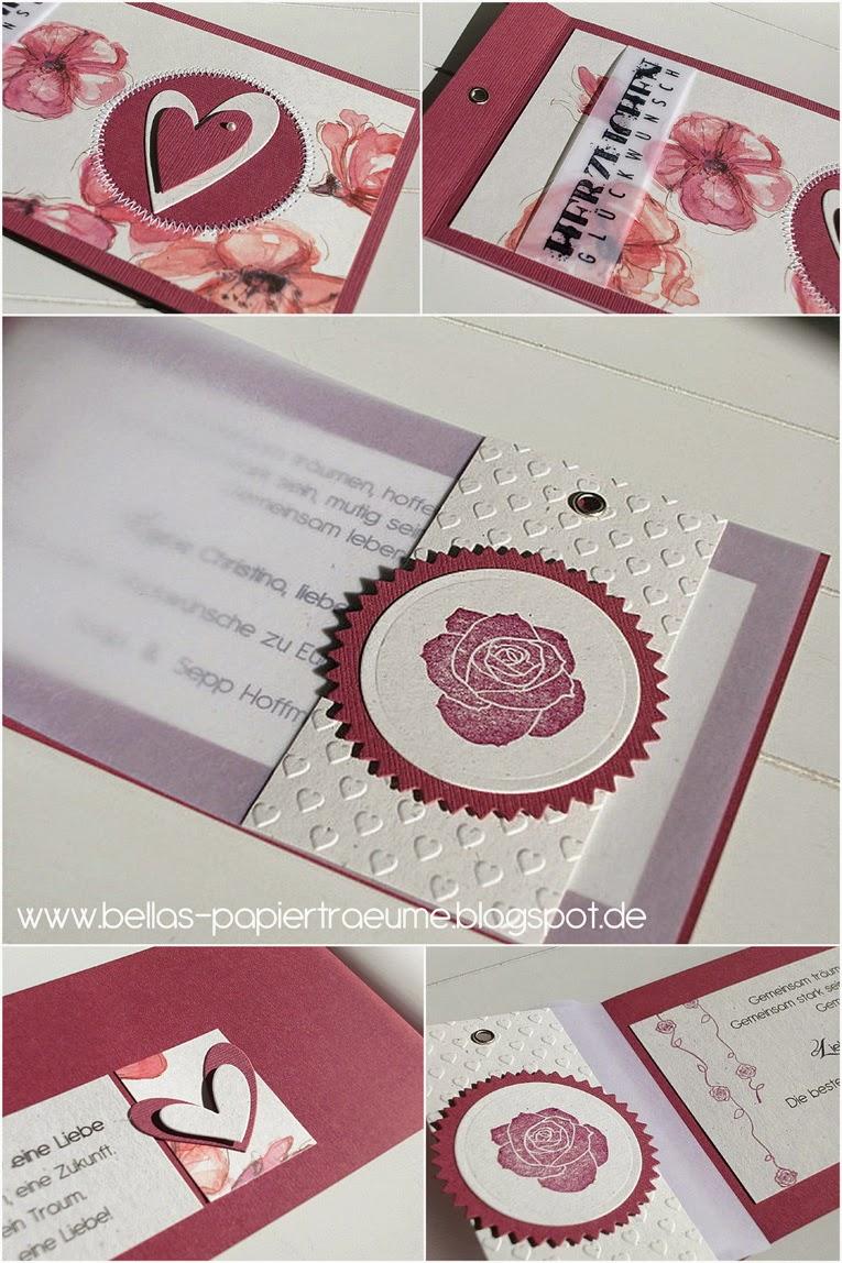 Bellas Papiertrume Rosen zur Hochzeit  Hochzeit 16
