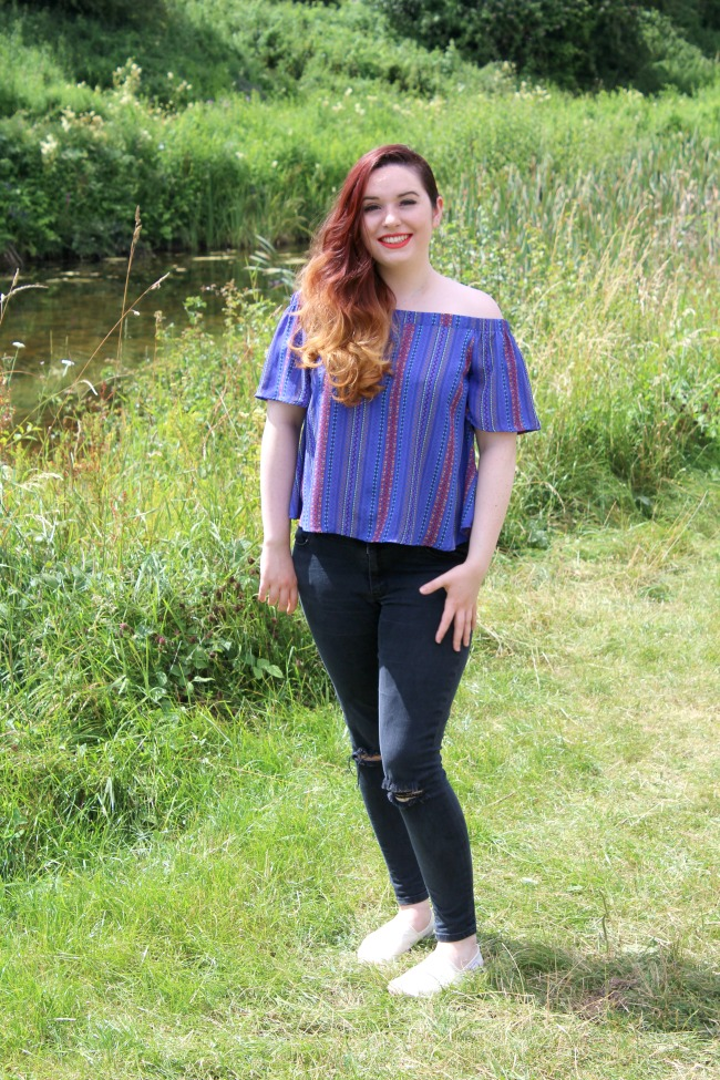 Going cold shoulder with a bardot top and feeling sassy. Nourish ME: www.nourishmeblog.co.uk