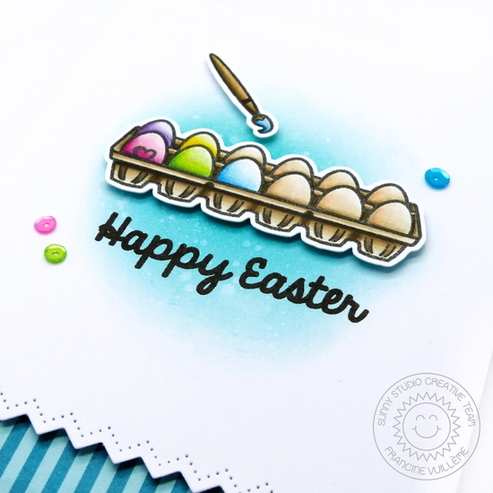Sunny Studio: A Good Egg Easter Card by Francine Vuillème.