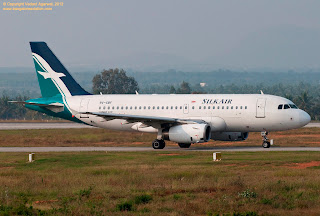 SilkAir Airbus A319 9V-SBF Bengaluru International Airport