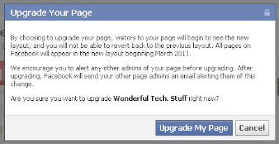 Upgrade Wonderful Tech Stuff Facebook fan page