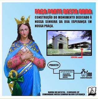 Projeto construção do monumento dedicado a Nossa Senhora da Boa Esperança