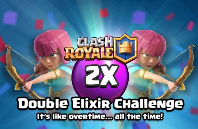 Rincian dan Hadiah Double Elixir Challenge clash royale