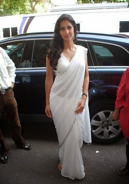 Katrina Kaif Hot In White Saree