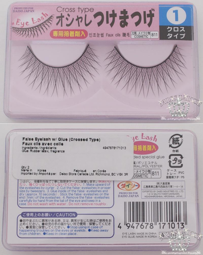 43530e2aa53 REVIEW: Daiso Eyelashes w/ Glue #1