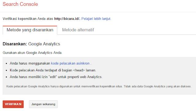 Hingga ketika ini situs nomor satu di dunia masih berada di tangan Google Cara Mendaftarkan Blog ke Google Webmaster Tools