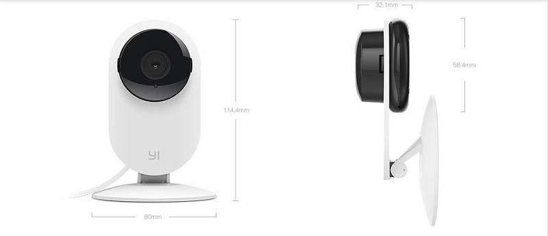 Xiaomi Yi Home Camera EU (HD/WiFi/IP/Νυχτ. Λήψη/Αν. Κίνησης/mSD) - Λευκή