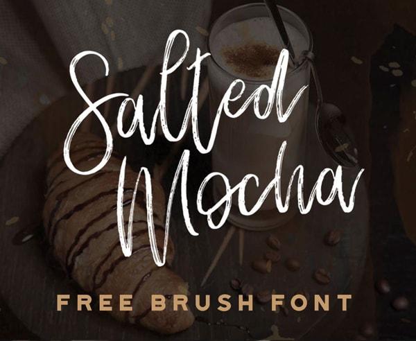 Brush font terbaik 2017 - Salted Mocha – Free Brush Font