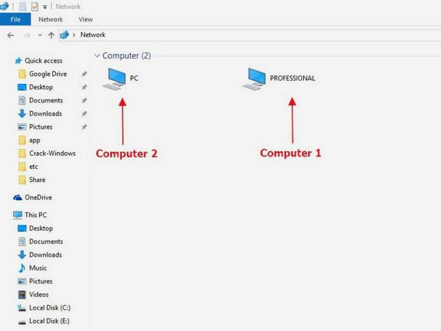 كيفية مشاركة الملفات بين جهازي كمبيوتر بإستخدام كابل انترنت LAN Cable
