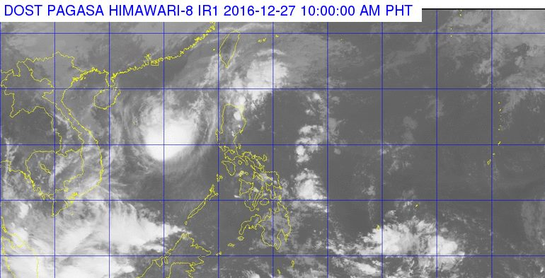 'Bagyong Nina' PAGASA weather update December 27, 2016