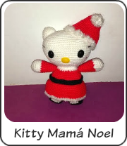 Amigurumi Kitty mamá Noel