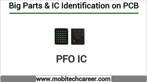 PFO IC identification on mobile cell phone smartphone pcb circuit board motherboad | PFO IC ki mobile phone pcb par pahchan kaise kare | PFO IC की मोबाइल रिपेयरिंग में पीसीबी पर पहचान करना सीखें कार्य व खराबियाँ | मोबाइल रिपेयर करना हिन्दी में सीखें | PCB पर All IC पहचान