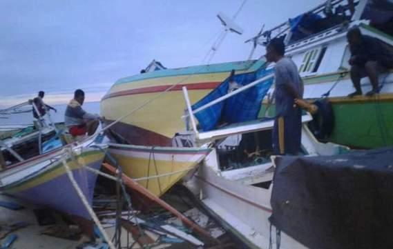 Breaking News : Pasca Gelombang Pasang, Begini Kondisi Warga, Pulau Jinato Pagi Ini
