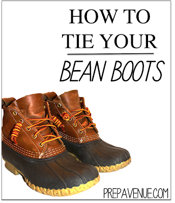 How To Tie Your Bean Boots Prep Avenue