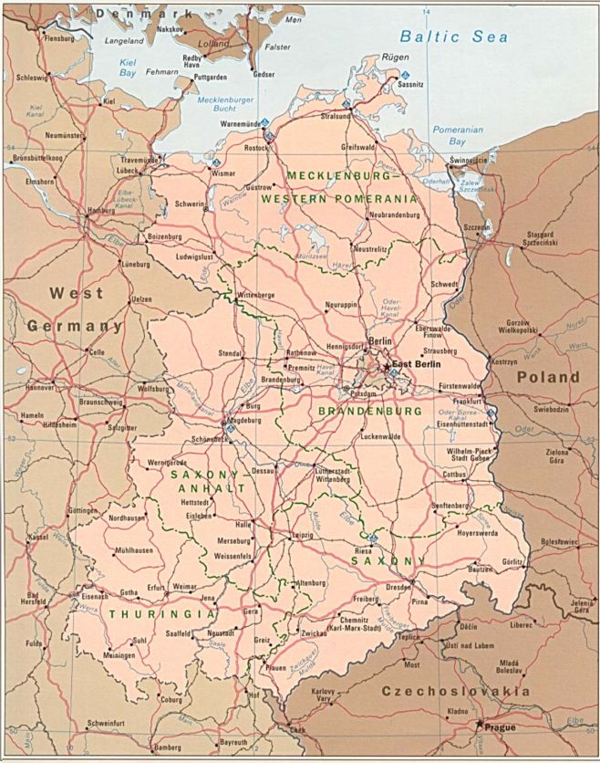 Map Of East Germany And West Germany.Maps Of Dallas East Germany Map
