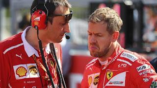 El mal humor de Vettel cuando pierde