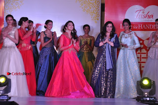South Indian Celebrities Pos at Love For Handloom Collection Fashion Show  0145.jpg