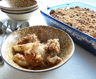 Gingerbread Pear Crumble