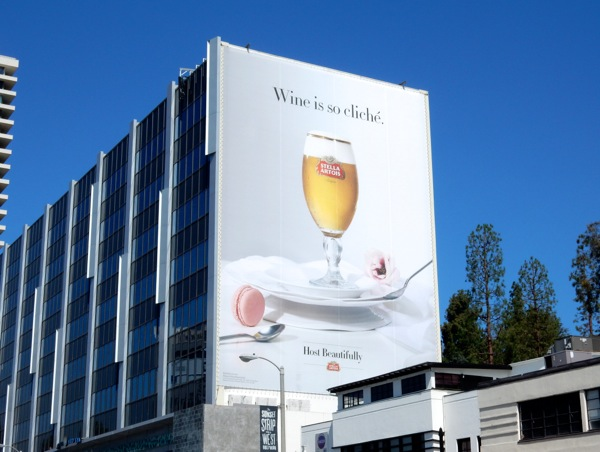 Giant Stella Artois Wine is so cliché billboard