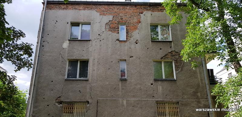 Warszawa Warsaw Mokotów modernizm kamienica architektura strzały po kulach powstanie warszawskie historia