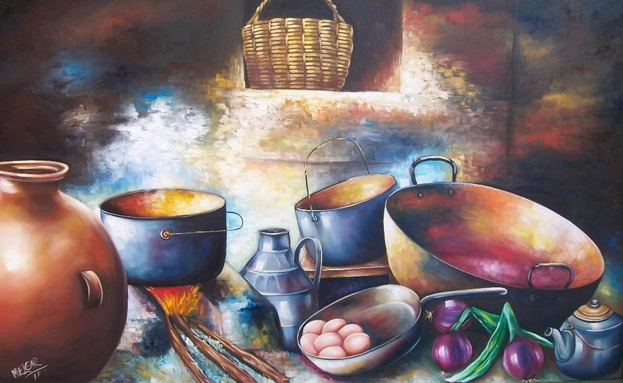 Pintura moderna y fotograf a art stica pinturas de - Cocinas de famosos ...