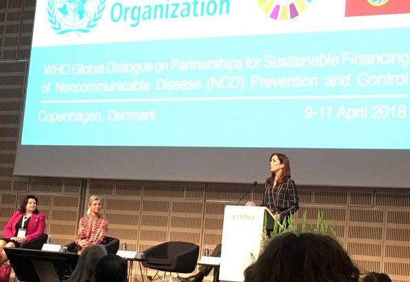 "Crown Princess Mary opened ""WHO Global Dialogue on Partnerships for Sustainable Financing of (NCD) Prevention and Control"" in Tivoli"
