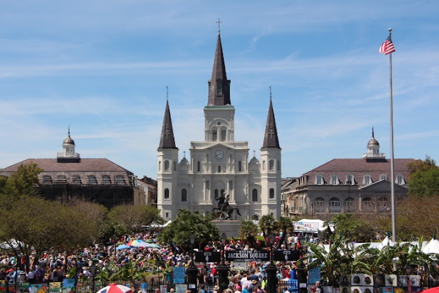 Jackson Square St. Louis Cathedral French Quarter Festival 2016