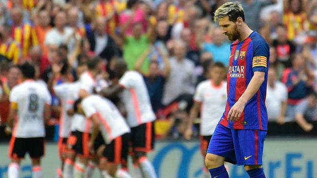 [Video] Cuplikan Gol Valencia 2-3 Barcelona (Liga Spanyol)