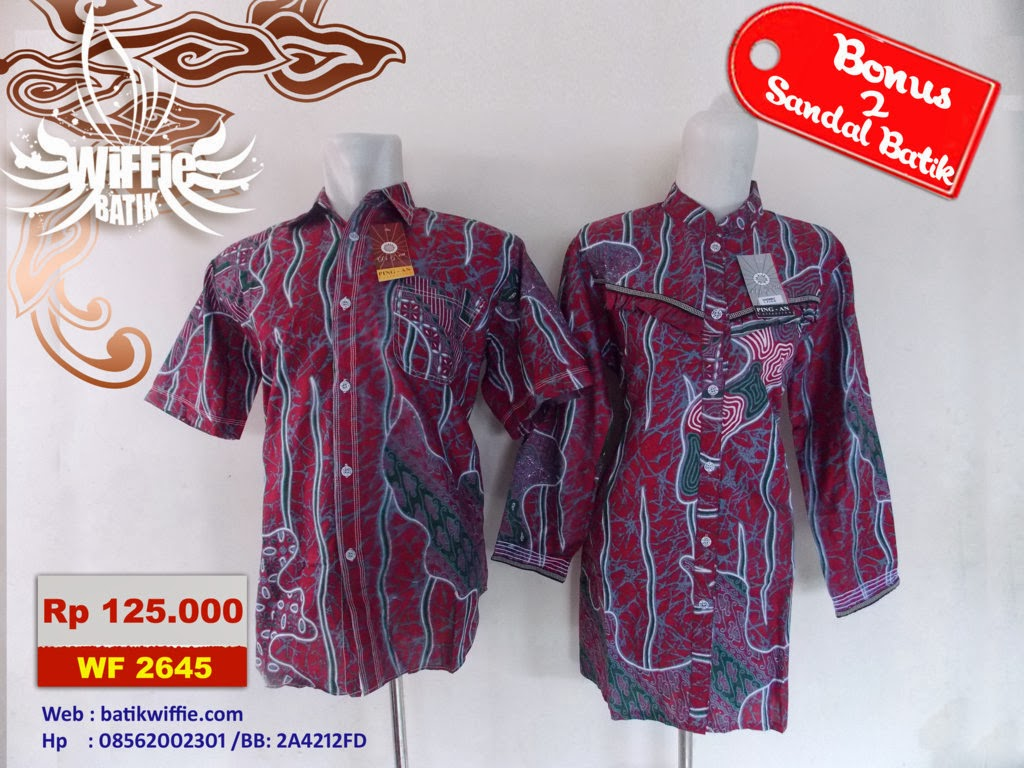 Indonesian Abstrak Batik: Batik Couple Modern Abstrak