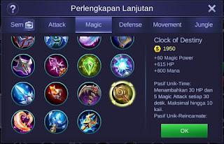 Clock of Destiny Mobile Legends Bang Bang