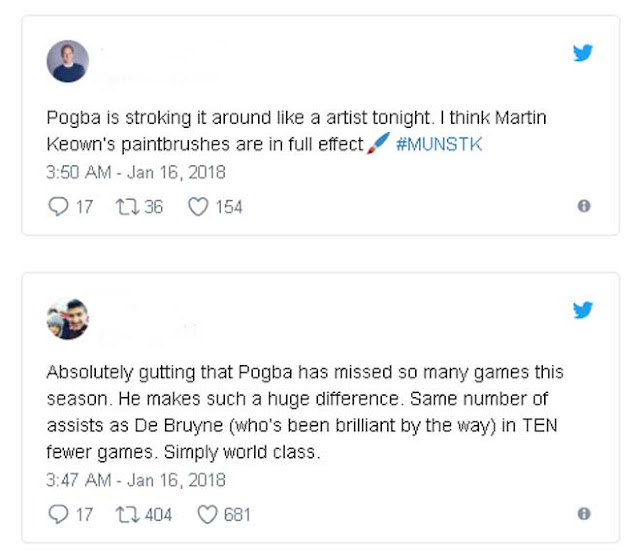 Vua kiến tạo Pogba cầm trịch MU: Fan khen mỹ miều như Federer 2