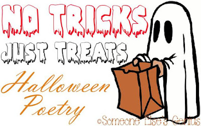 Halloween Poetry: many bloggers share Halloween poems | graphic by Robin of www.someoneelsesgenius.com | Stubble, Rubble, Boil and Bubble by www.BakingInATornado.com | #poetry #Halloween