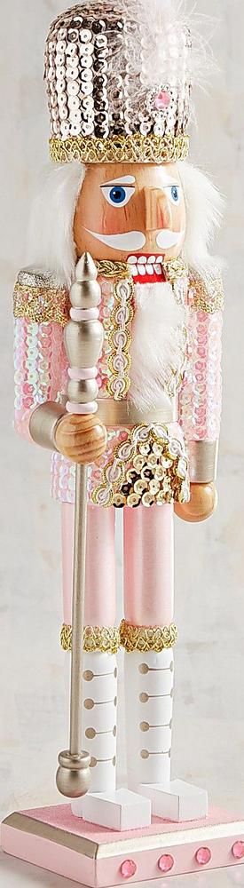 "Pier One Pink Sequined 15"" Nutcracker"