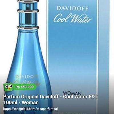toko parfum asli parfum original davidoff cool water edt 100ml woman