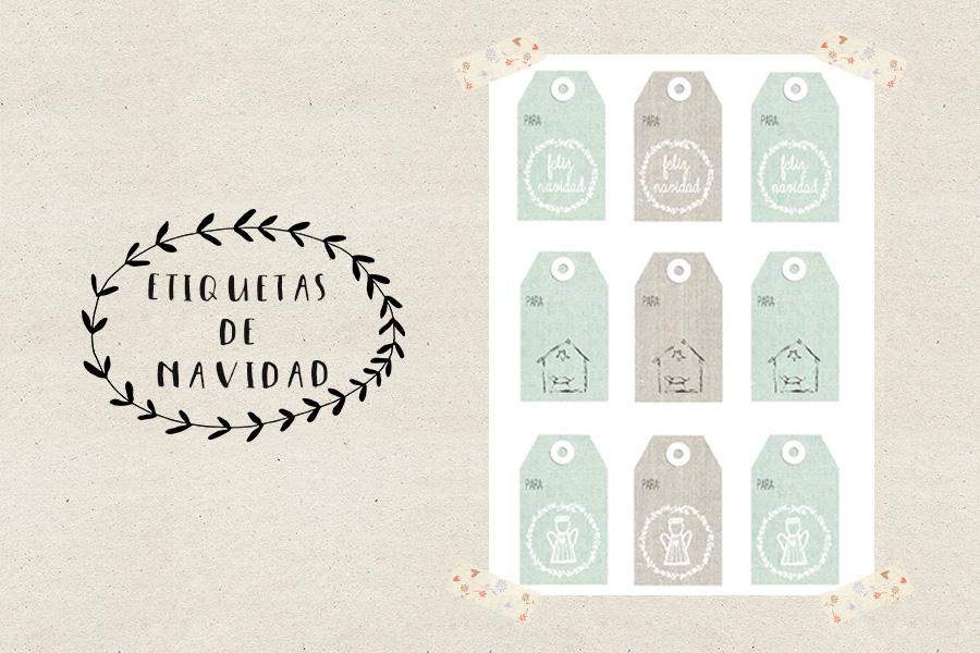 Printable gratis: etiquetas regalo para navidad - Las cosas de Maite