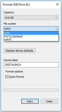 solusi copy file besar ke flashdisk 4 giga digital baca