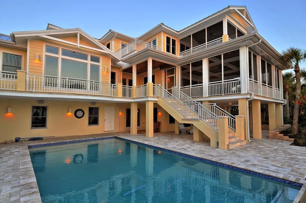 60 desain rumah mewah 2 lantai dengan kolam renang
