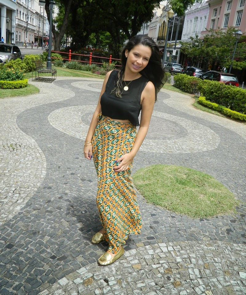 look do dia saia e cropped