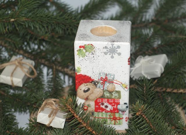 Świątecznie #4 -świecznik