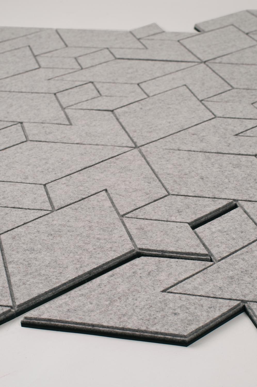 dywan geometryczny szary