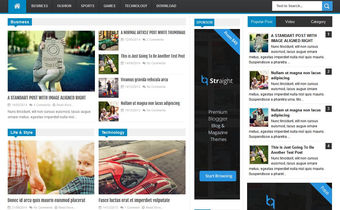 Linezap Free Premium Responsive Blogger Template - Softdews